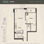 Oak & Co Condos - Cedar - Floorplan