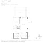 Eau Du Soleil - Sky 61 - Floorplan
