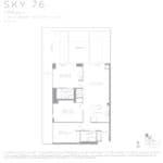 Eau Du Soleil - Sky 76 - Floorplan