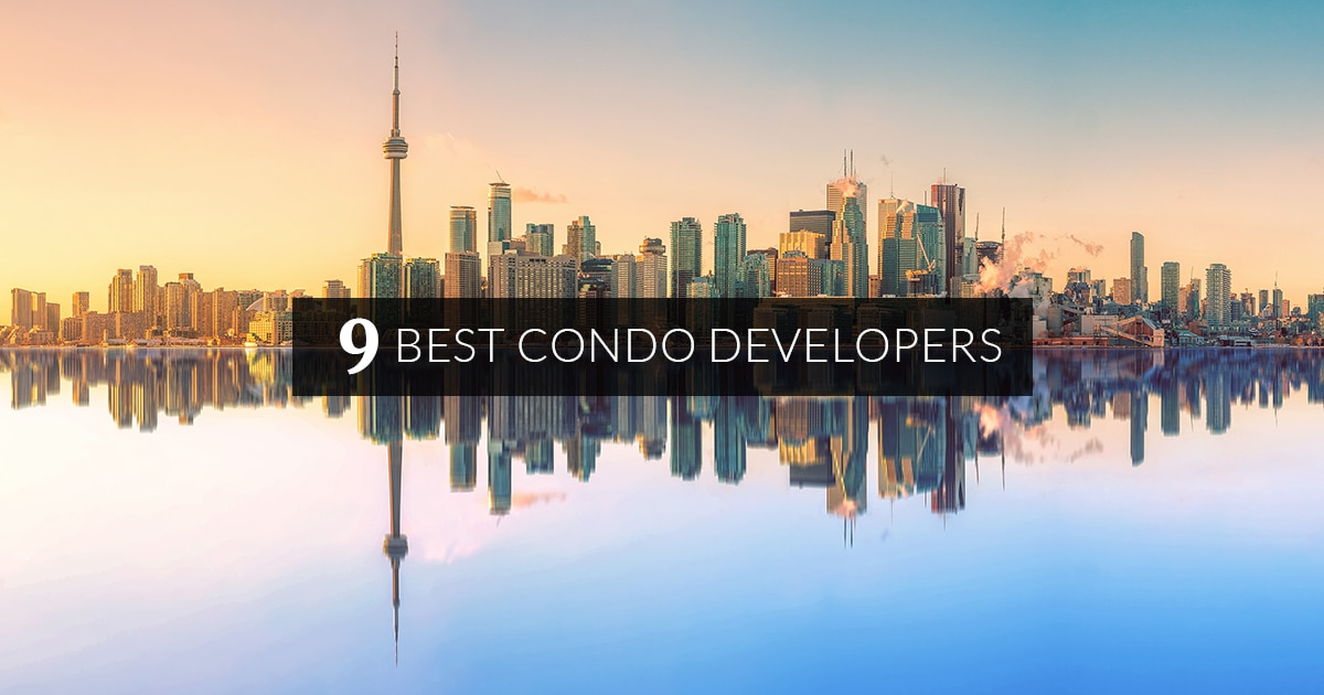 Toronto Skyline with top 9 condo developers