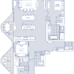 Aqualuna - 2MM+D - Floorplan