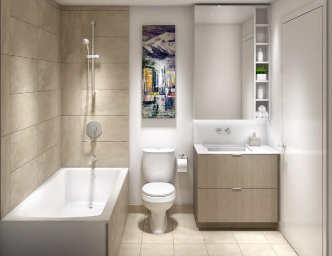 Lakeside Residences - Suite - Bathroom - Interior Render