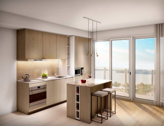 Lakeside Residences - Suite - Kitchen - Interior Render