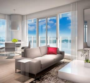 Lakeside Residences - Suite - Living Room - Interior Render