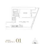 SkyTower at Pinnacle One Yonge Condos - Residence 01 - Floor Plan