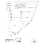 SkyTower at Pinnacle One Yonge Condos - Residence 02 - Floor Plan