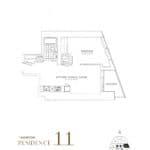 SkyTower at Pinnacle One Yonge Condos - Residence 11 - Floor Plan
