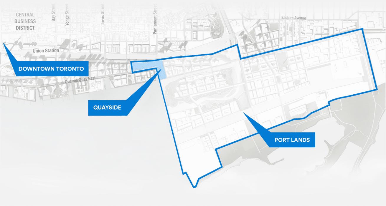 Downtown Toronto map
