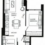 Fortune At Fort York - Lower Penthouse 05 - Floorplan