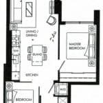 Fortune At Fort York - Suite 2005 - Floorplan