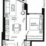 Fortune At Fort York - Suite 805 - Floorplan
