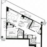Fortune at Fort York - Suite 2505 - Floorplan