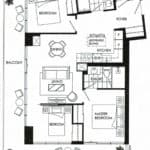 Fortune at Fort York - Suite 1112 - Floorplan