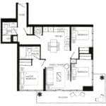 Fortune at Fort York - Upper Penthouse 10 - Floorplan
