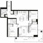 Fortune at Fort York - Suite 810 - Floorplan