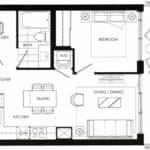 Fortune at Fort York - Suite 543 - Floorplan