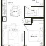Fortune at Fort York - Suite 619 - Floorplan
