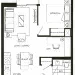 Fortune at Fort York - Suite 218 - Floorplan