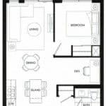 Fortune at Fort York - Suite 536 - Floorplan