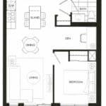 Fortune at Fort York - Ortega 580-B - Suite 331 - Floorplan