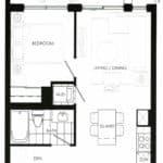 Fortune at Fort York - Suite 338 - Floorplan