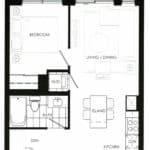 Fortune at Fort York - Suite 538 - Floorplan