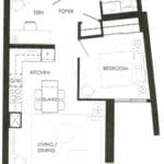 Fortune at Fort York - Suite 512 - Floorplan