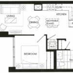 Fortune at Fort York - Suite 813 - Floorplan