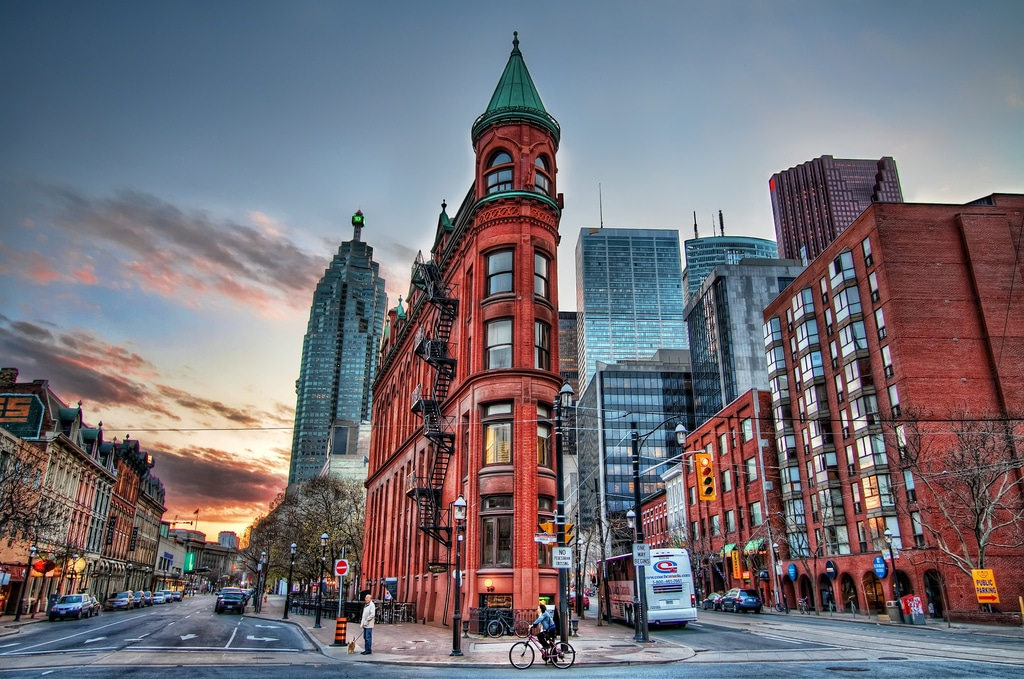 Gooderham Building with iconic architecture