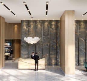 Central Condos - Entrance - Interior Render