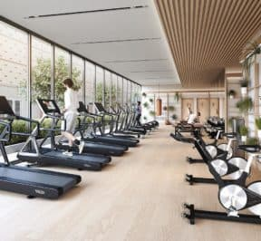 Central Condos - Gym - Interior Render