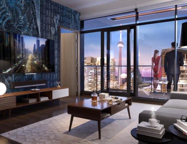 Central Condos - Living Space - Interior Render