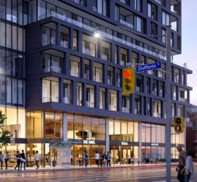 XO Condos at 1221 King St Rendering from Dufferin St