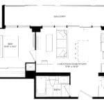 XO Condos - 478 - Floorplan