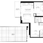 XO Condos - 560 - Floorplan