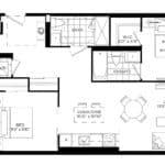 XO Condos - 920 - Floorplan
