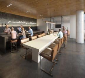 XO Condos - Bar - Interior Render