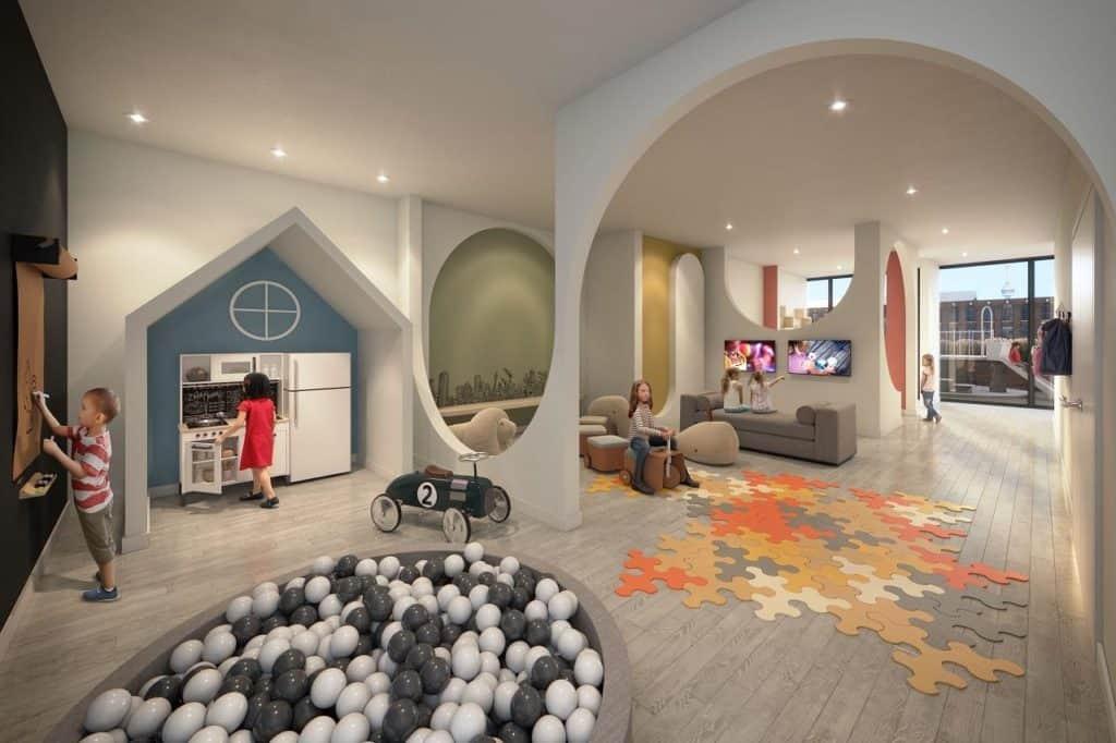 XO Condos - Kid's Play Area - Interior Render