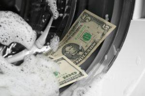 laundered money