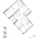 1181 Queen West Condos - 1054 sq.ft - Floorplan