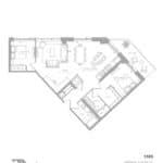 1181 Queen West Condos - 1105 sq.ft - Floorplan