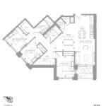 1181 Queen West Condos - 1123 sq.ft - Floorplan