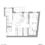1181 Queen West Condos - 1143 C sq.ft - Floorplan