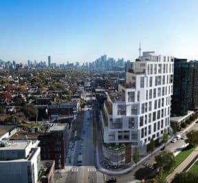 1181 Queen Street West - Bird's Eye View - Exterior Render