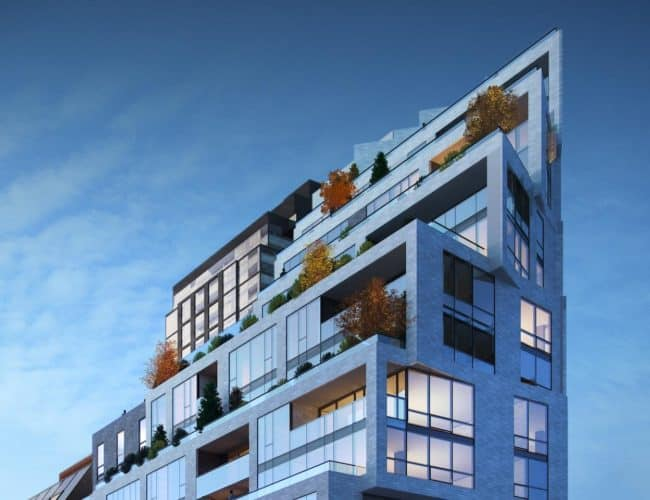 1181 Queen Street West - Street Level View - Exterior Render