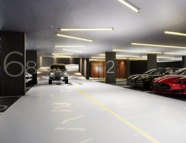 1181 Queen Street West - Underground Parking - Interior Render