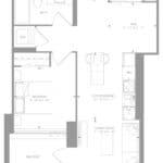1181 Queen West Condos - Suite 505 - Floorplan