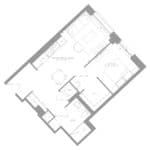 1181 Queen West Condos - Suite 612- Floorplan