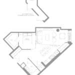 1181 Queen West Condos - Suite 411 - Floorplan