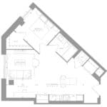1181 Queen West Condos - Suite 206 - Floorplan